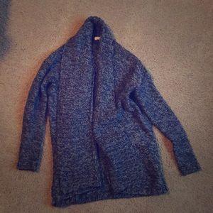 LOFT acrylic/wool/nylon knitted cardigan sweater
